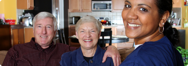 caregiver and the married elder couple